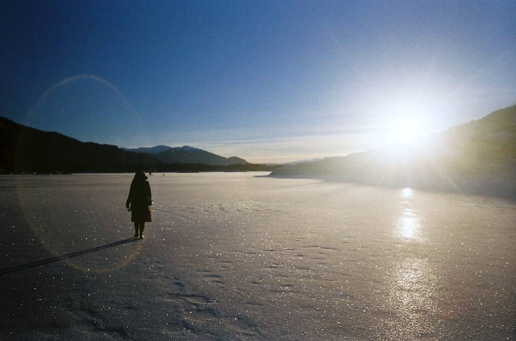 A Visit to the Mendenhall Glacier on a Cold Winter's Day