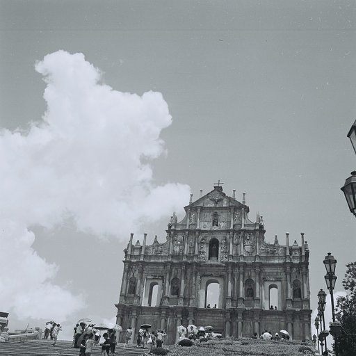 Macau in Black and White: A Blend of East and West, Past and Present