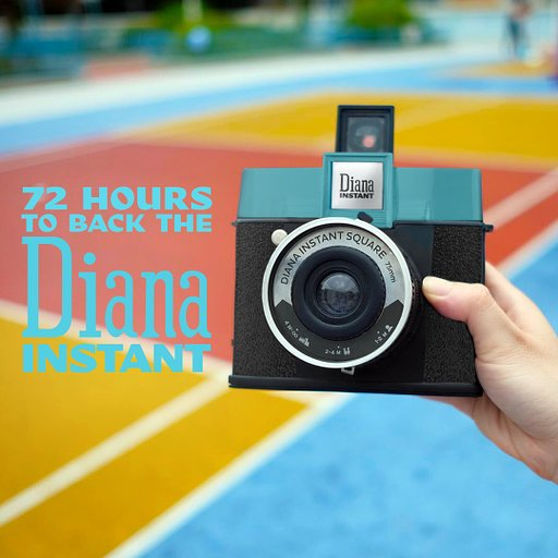 Last 72 Hours to Save 30% When You Back the Diana Instant Square Camera on Kickstarter!