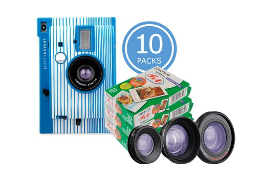 Save up to 20% on Film with the  Lomo'Instant San Sebastián & 10x Fuji Instax Mini Film Bundle!