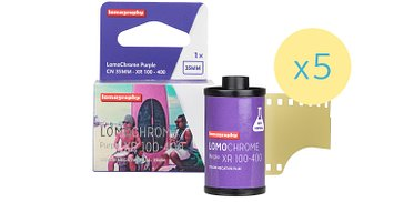 Nueva LomoChrome Purple 35mm Pack de 5 - Reserva