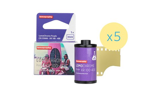 Der LomoChrome Purple 35mm im 5er Bundle