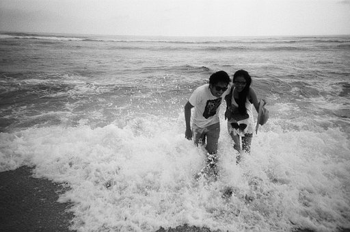 Indrayanti Beach, Yogyakarta in Black and White