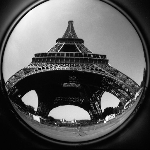 Twosday Tuesday: The Eiffel Tower as Seen through a Fisheye Lens