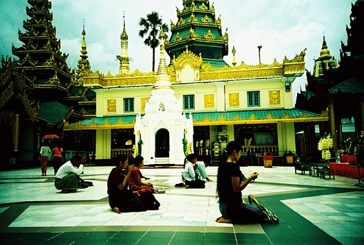 Faithful Shwedagon Pagoda