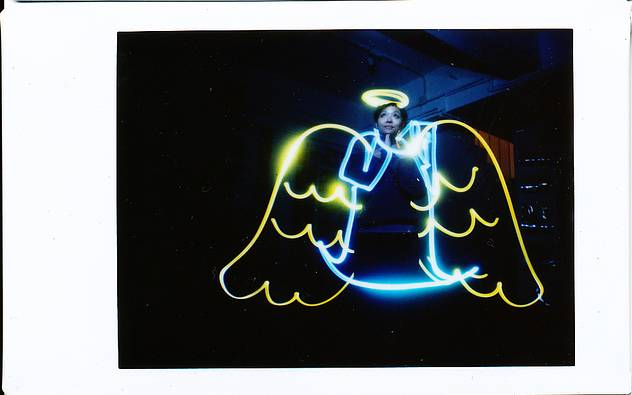 Instant Lightpainting: Free Film with the Diana Instant Back+