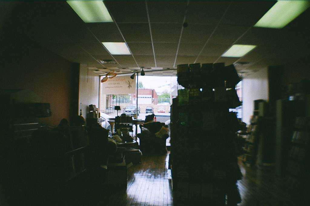 Days Fly By at the Dayfly Bookstore With the Holga 120 CFN and La Sardina