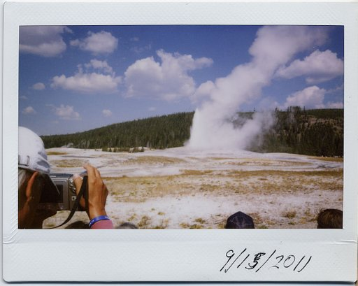 Yellowstone National Park mit der Instax