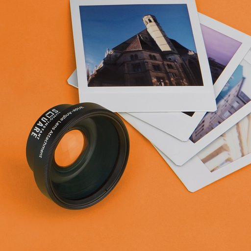 Objectif grand angle en verre du Lomo'Instant Square Glass