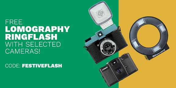 Free Lomography Ringflash with Selected Cameras!