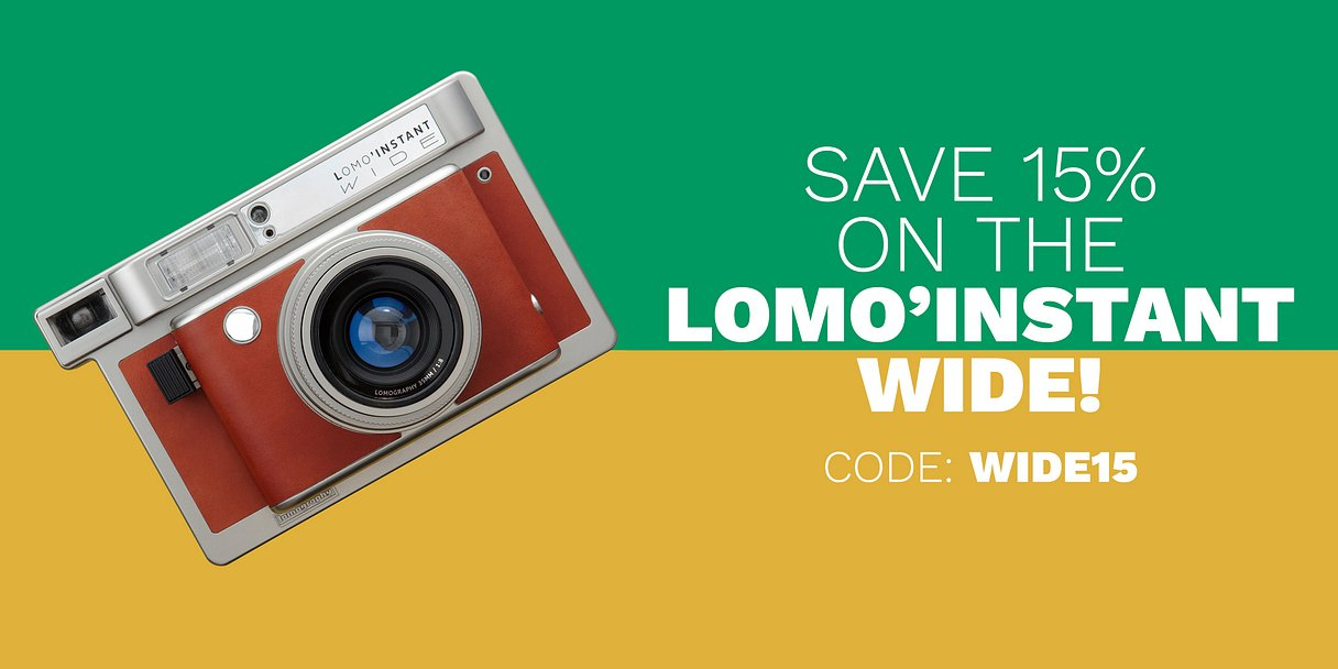 Save 15% on the Lomo'Instant Wide