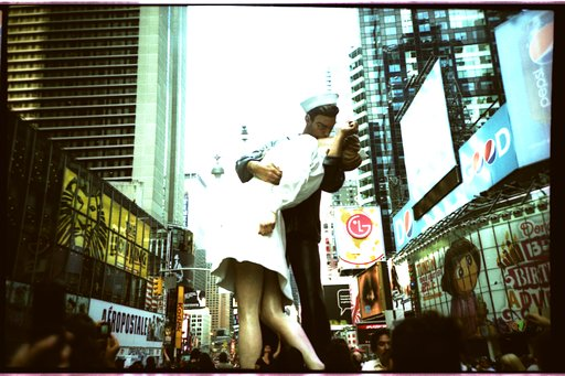 Requested Location: Times Square - The Kiss Place