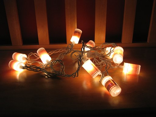 Film Canister Christmas Lights