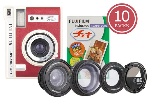 Save up to a whopping 20% on Instax film with the Lomo'Instant Automat South Beach & Lenses + Instax Film Bundles!