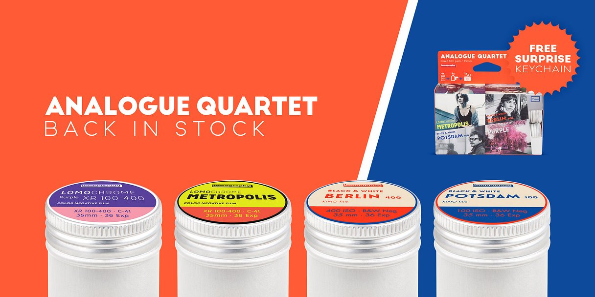 Analogue quartet back in stock - film month
