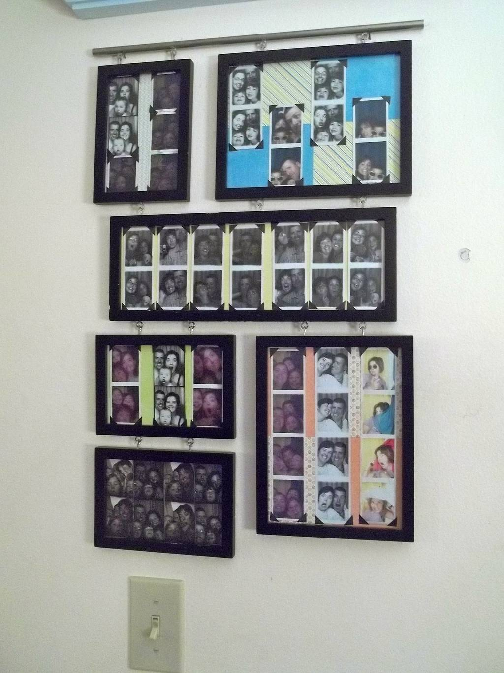 How to Display Vintage Photo Booth Photos