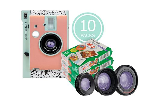 Great discounts on Instax Mini films when you them with the Lomo'Instant Milano