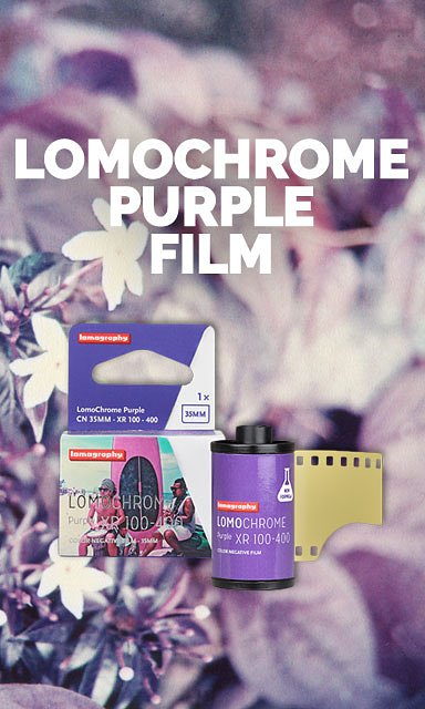 Color-shift your summer through violet tinted glasses with the LomoChrome Purple!