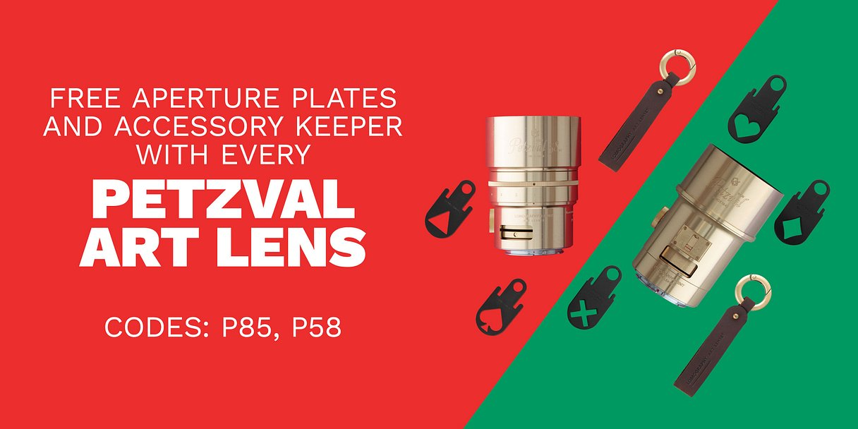 Free Aperture Plates and Accessory Keeper with Every Petzval Art Lens