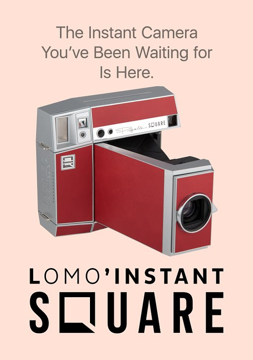 The Lomo'Instant Square is now LIVE on the online shop!