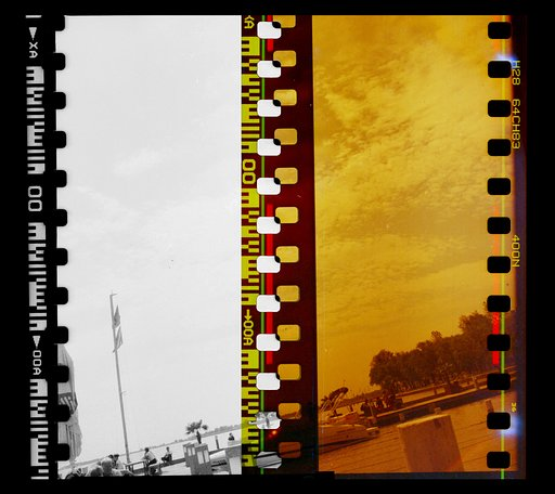 Redscale film as a red filter