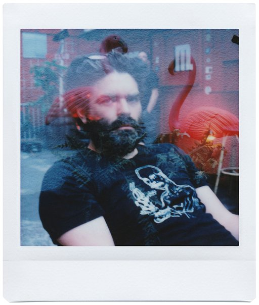 Nina Rädel with the Lomo'Instant Square Glass