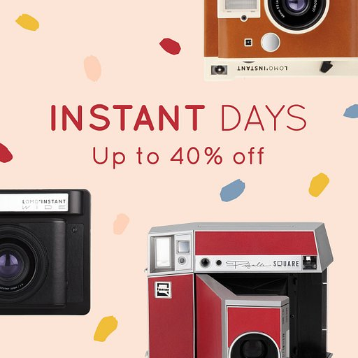 Stay Home and Stay Creative With a Lomo'Instant Camera!
