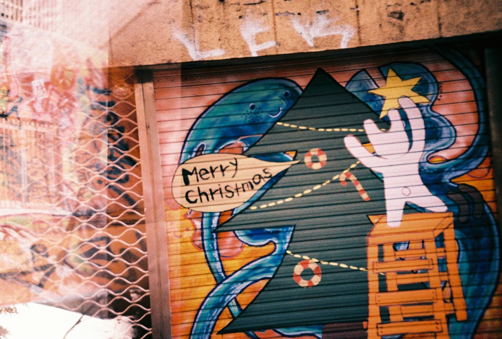 The free outdoor art gallery that is Hongdae · Lomography