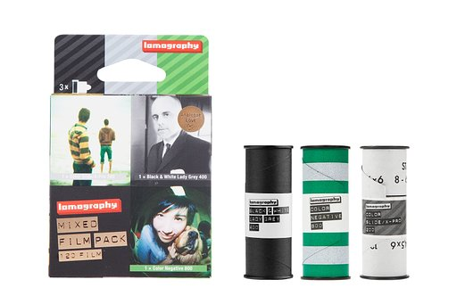 ฟิล์ม Lomography Mixed Film Pack 120 3 pack - Expired