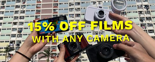 15% off on film with film camera