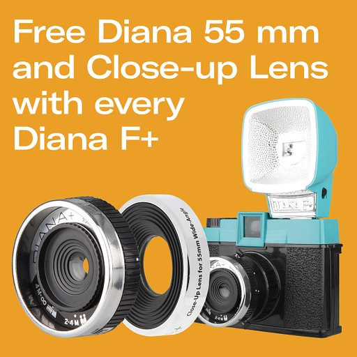 Enjoy Free Diana Lens Accessories with Every Diana F+ Camera!