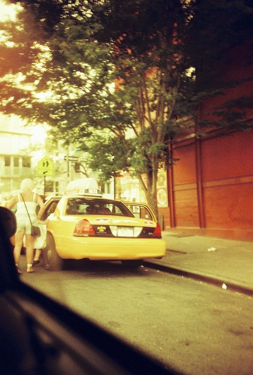 Riding in a Yellow Taxi, NYC