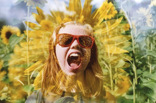 Twosday Tuesday: Multiple exposure shots featuring portraits and sunflowers