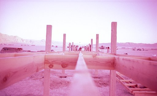 Building a Pier in the Desert