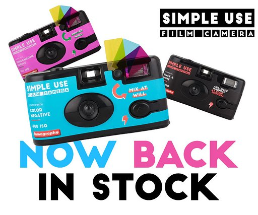 Siimple Use Film Cameras are back in stock!