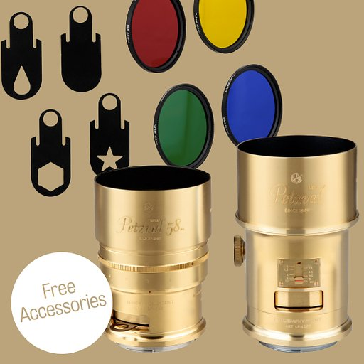 Get Lens Filters and Special Aperture Plates for Free When You Take Home the New Petzval 85 or the Petzval 58 Bokeh Control Art Lens!