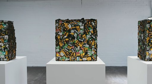 Cube Sculptures Made Out of Film Canisters