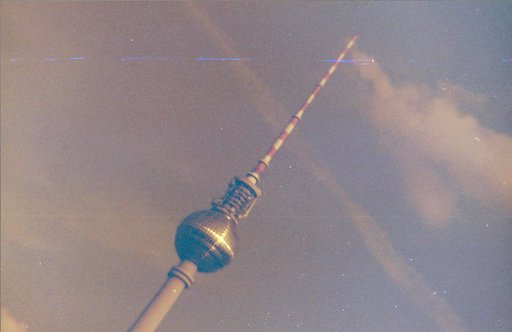 The Television Tower is Over Our Heads in Berlin