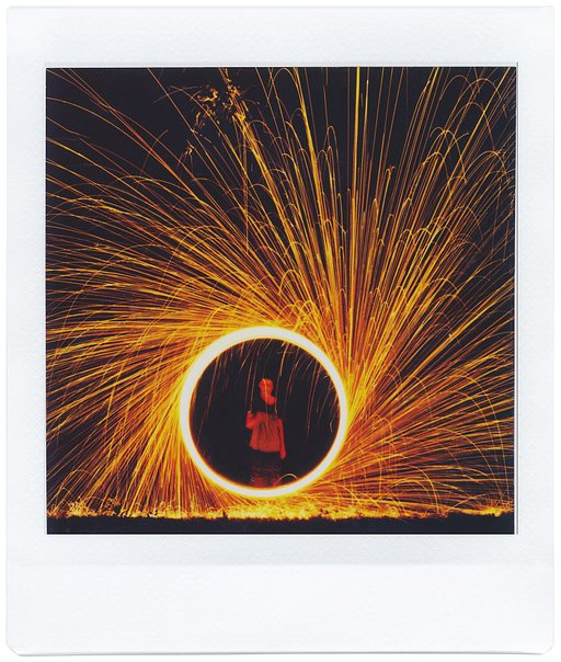 Burning Balls of Brilliance — Steel Wool Experiments with the Lomo'Instant Square Glass