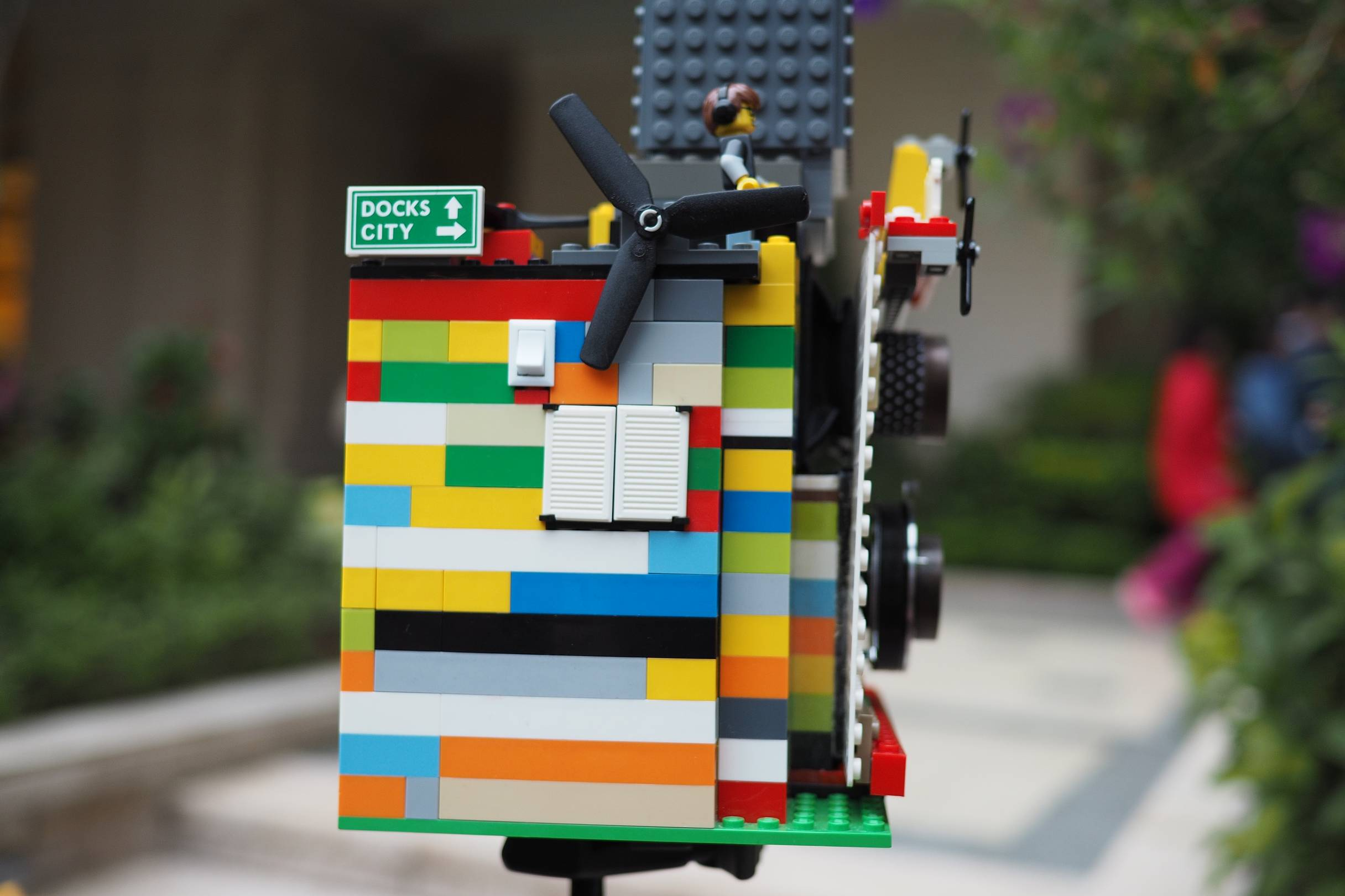 People are shocked when they realize that this is a camera. It is strange enough to see someone carry a Lego castle to the street. & Albertino and his Instant Camera Made Out of LEGO · Lomography