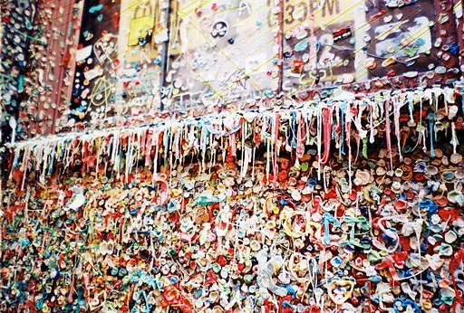 Gum Wall at Pike Market , the Germiest Location in Seattle!