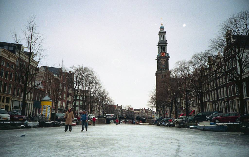 Ice Skating On The Amsterdam Canals