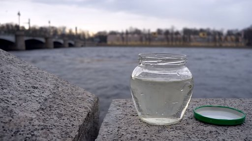 Soaking Film in the Waters of the Neva River