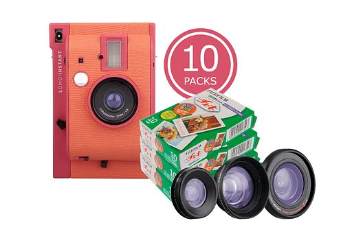 Save 20% with the Lomo'Instant Marrakesh & 10x Fuji Instax Mini Film Bundle!