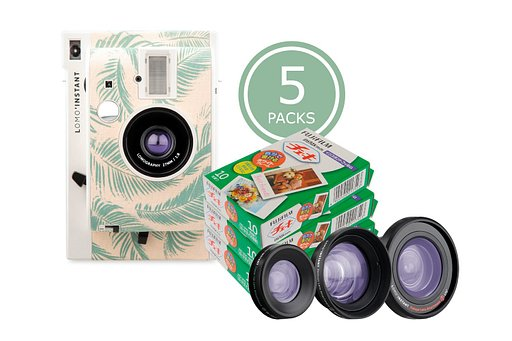 Lomo'Instant Honolulu & 5x Fuji Instax Mini Film Bundle saves you 15%