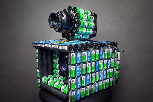A Camera Made of Film Cassettes, by Alireza Rostami