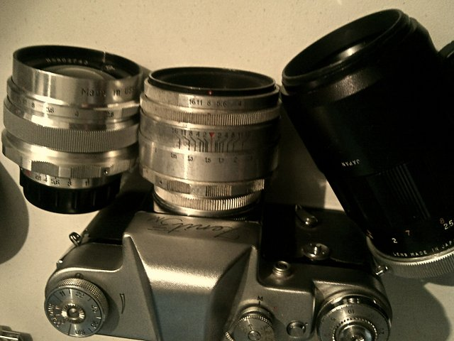 Nice Early Example Zenit 3M Vintage 35mm SLR Camera cw Industar 50mm F3.5 Lens Cased