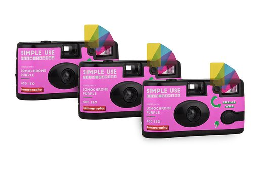 Pre-order a Pack of 3 2019 Lomochrome Purple Simple Use Film Camera and Save 30% on This Bundle!