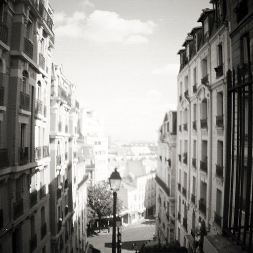 Paris in Beautiful Black and White: Walking Around