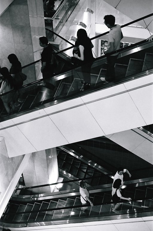 Ngee Ann City in Black and White